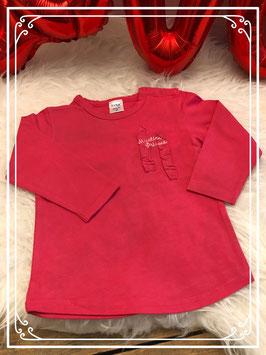 Roze lange mouwen shirt van Dirkje - Maat 86