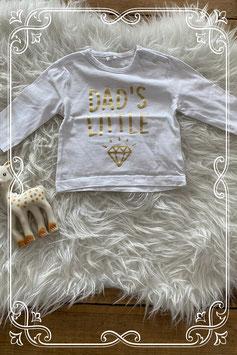 Wit shirtje met goude opdruk - maat 68