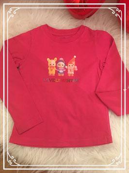 Donkerroze shirt van Love Therapy - Maat 86