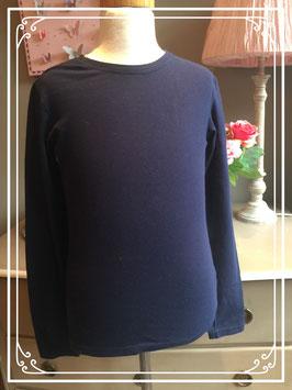 Donkerblauw shirt van de HEMA - maat 158-164