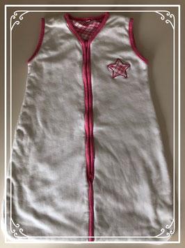 Witte slaapzak met roze ster - 70 CM