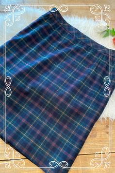 Blauw geruite rok van het merk Hensel & Mortensen - maat 50