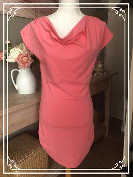 Roze geplooide T-shirt jurk van de VERO MODA - Maat M