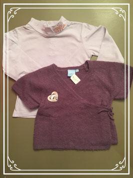 Disney shirtje met wollen truitje - maat 98