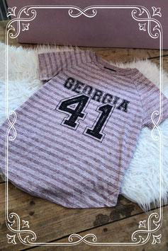 Sportief roze gestreept t-shirt - Maat S