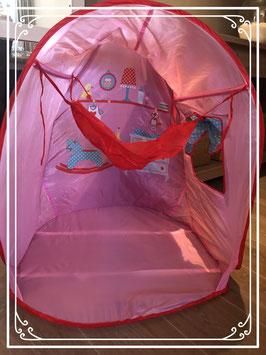 SPEELTENT voor meisjes met hangmat (voor pop)