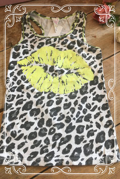 Top met panterprint van Funky Chicks - Maat 146-152