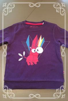 NIEUW: paars sweat shirtje van color kids - maat 80/86