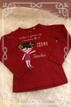 Rood lange mouwen shirt met print van JBC - Maat 92