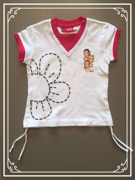 Wit T-shirtje van K3 - maat 110-116