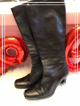 Hoge zwarte dames laarzen van Andorra maat 39