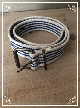 Blauw/wit gestreepte riem