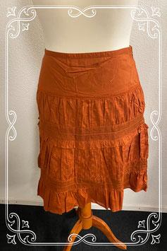 Nieuw! Sierlijke oranje rok van Esprit maat 42