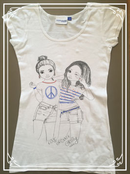 Wit T-shirt met print van TopModel - maat XS