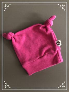 Roze muts met knopen - Maat 50/56