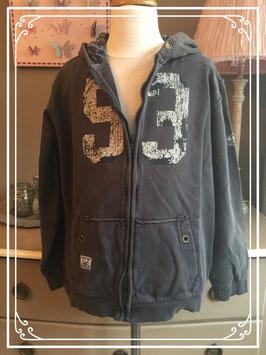 Donkergrijze sweater vest van Unlocked - maat 176
