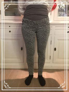 Grijze zwangerschaps panterbroek van Miss Etam - Maat 40