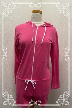Roze jumpsuit met rits in maat M