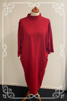Elegante rode jurk van Elvi Couture maat 46