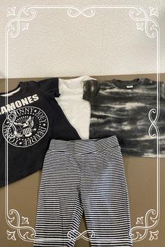 2 leuke shirts van o.a. H&M met een romper en een broekje in maat 62/68