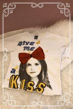 Wit lange mouwen shirt met print van Zara Kids - maat 98