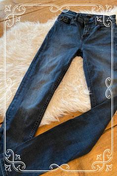 Donkerblauwe jeans van The Sting - maat xs