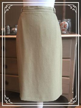 Nieuw: licht kaki-kleurige rok van Fisser - maat 42