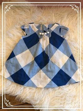 Blauw geruit jurkje van de ZARA - Maat 80