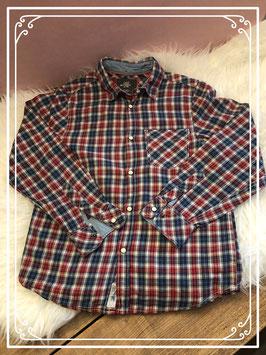Blauw/rood overhemd van de H&M - Maat 146
