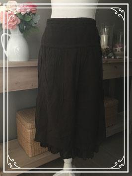 Nieuw: Donker bruine rok - maat L