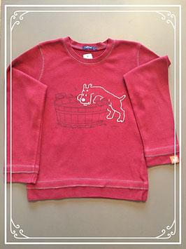 Bordeaux rood gekleurde sweater van het merk Tintin - maat 122