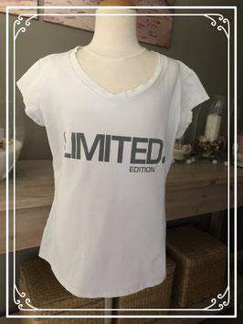 Wit T-shirt met opdruk - maat S-M