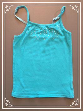 Een turquoise topje van Coolcat - maat 134-140