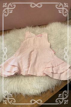 Roze met wit gestreept zomer jurkje van COCO AMEE - Maat 86