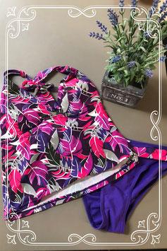 Leuke paars/roze/witte bikini maat 36