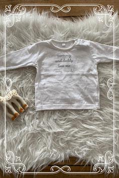super leuk wit shirtje met opdruk - maat 56