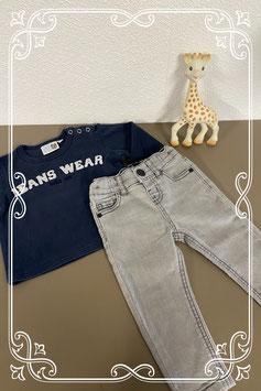 Leuke jeans set spijkerbroek van Denim Co en shirt van ZEP baby Maat 74