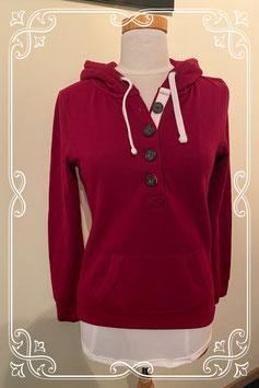 Mooie bordeaux rode sweater met capuchon van het merk Casualwear Maat S