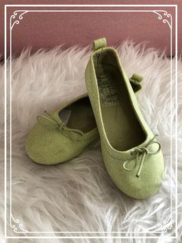 Lime-groene glitter ballerina's van de H&M maatje 27