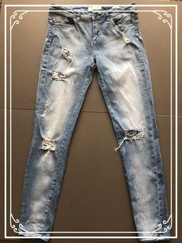 Skinny model spijkerbroek met gaten van de WE - Maat W32 L32