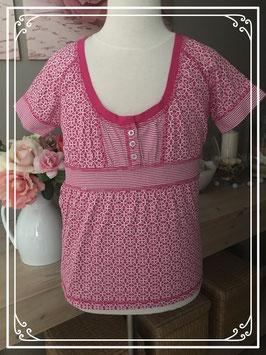 Nieuw: Roze shirt met wit patroon van HEMA - Maat 158-164