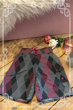 Grijs met roze zwembroek - Maat 104-110