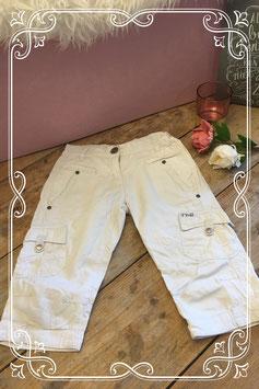 Witte broek van tumble and dry-maat 128
