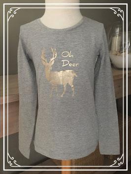 Shirt met een hert - Maat 122-128