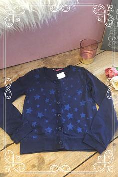 Donkerblauw vest met glitter sterren van de Hema-maat 122-128
