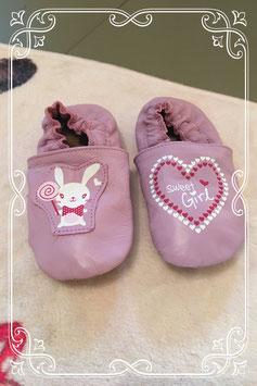 paarse baby schoentjes - maat 20/21