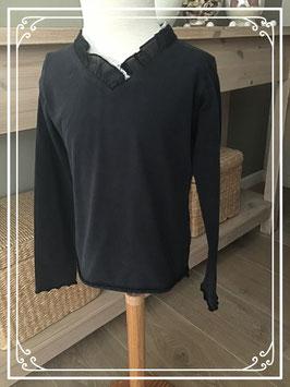 Donkerblauw shirt met kant van PL Land - maat 104