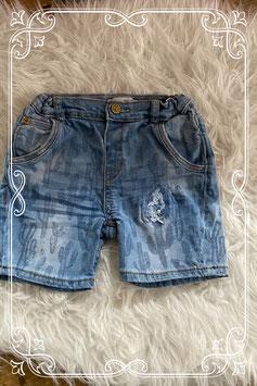 Korte spijkerbroek met cactus print van ZARA - Maat 98-104