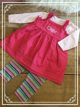 Rose jurkje met bijbehoren - Maat 68