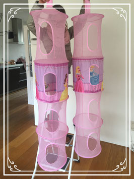 Roze bedkamer versiering - 2 opbergboxen